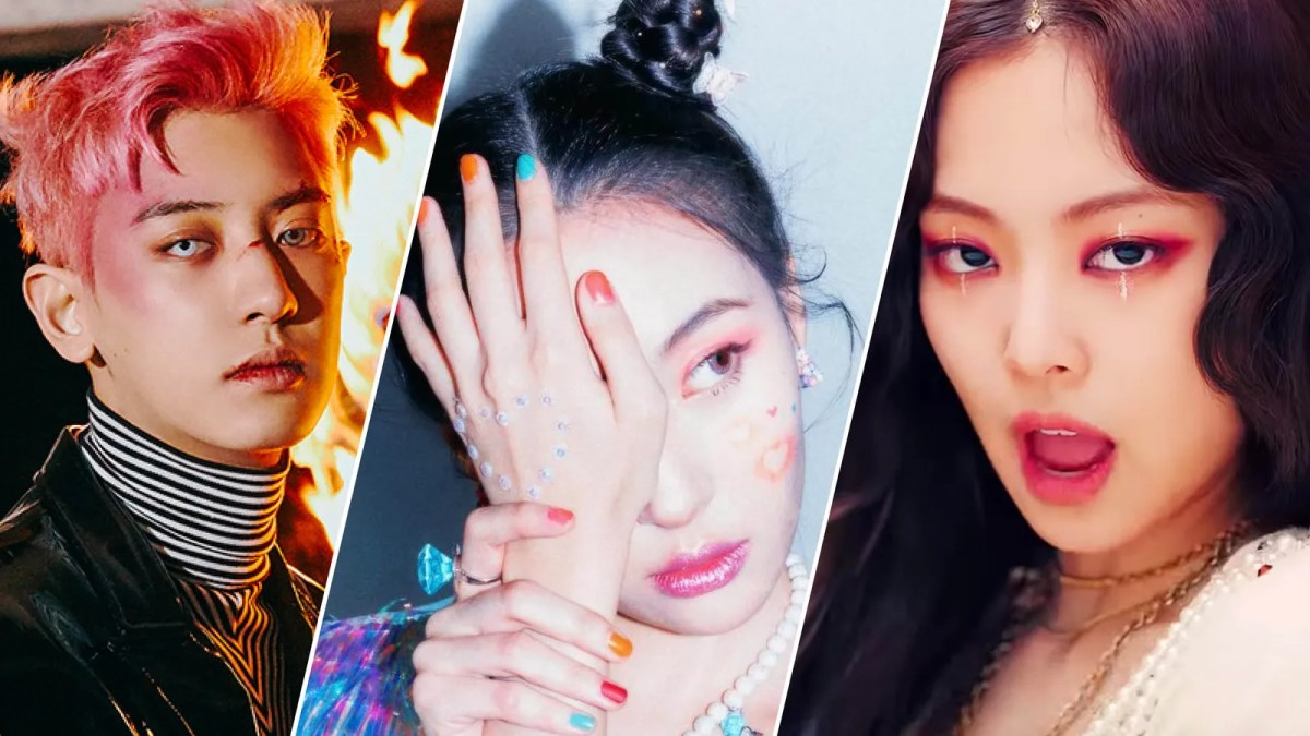 Colorful dye jobs and dramatic eyeliner from EXO, Blackpink, and more