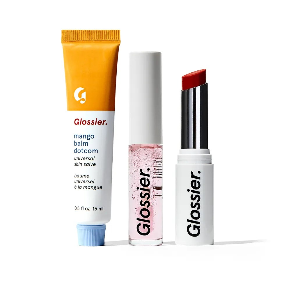 Glossier The Core Lip Collection on white background