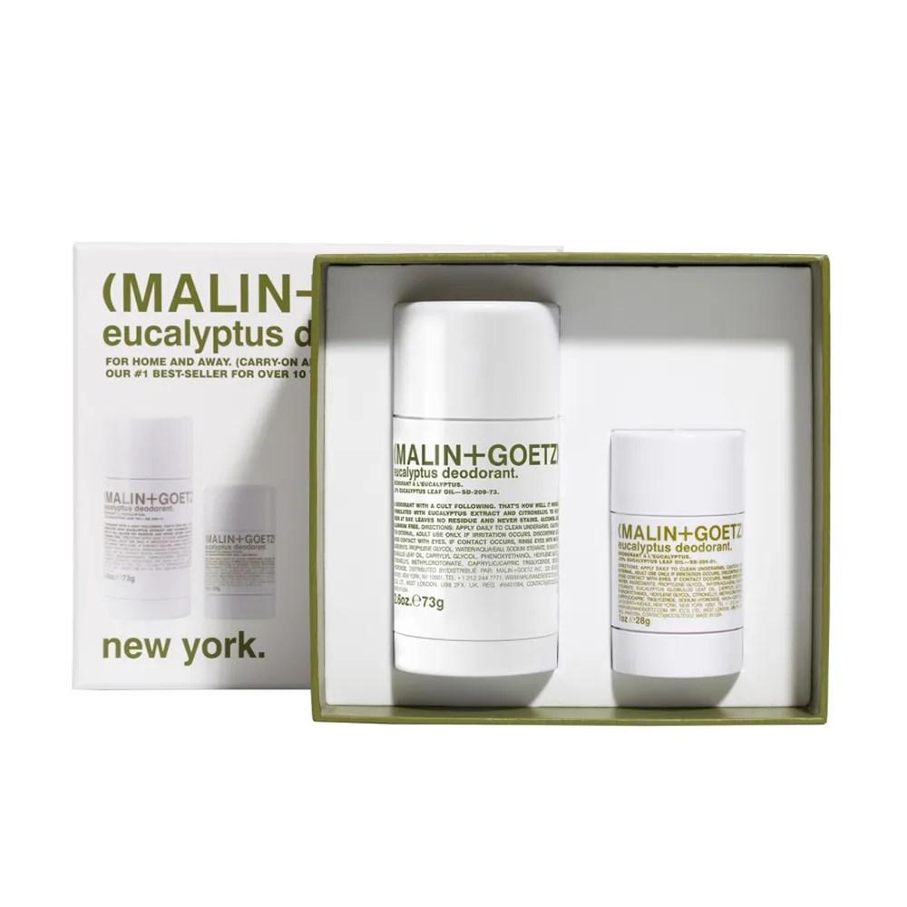 Malin+Goetz Eucalyptus Deodorant Set on white background