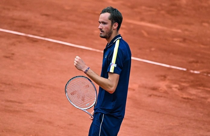Medvedev during his match