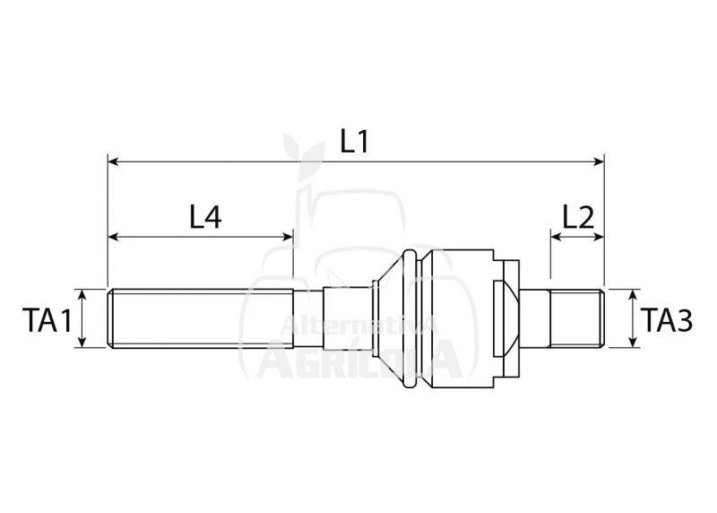 RÓTULA AXIAL M28x1.5 DERECHA / M26x1.5 DERECHA