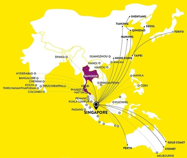 Scoot Route Map