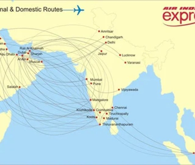 Air India Express Route Map
