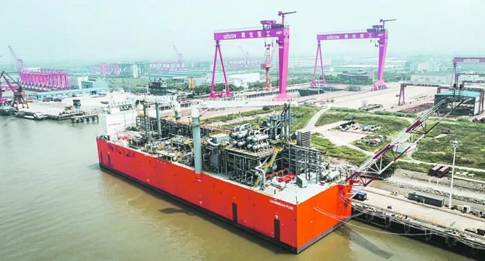 TANGO FLNG se llamó la barcaza de Exmar que tenía una capacidad de licuar hasta 2,5 millones de metros cúbicos de gas para YPF en Bahía Blanca.