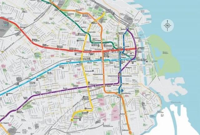 <p>El mapa de la nueva Línea F.</p>