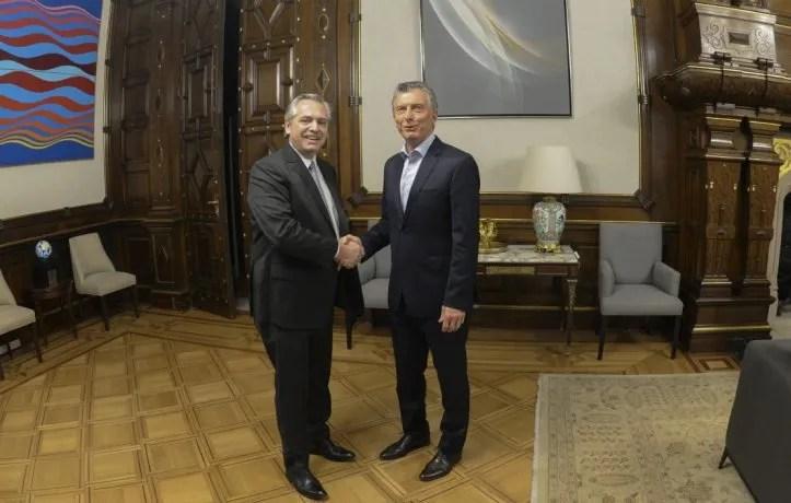 Mauricio Macriy Alberto Fernández.