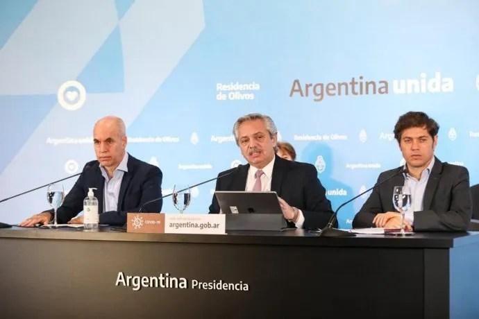 El presidente, Alberto Fernández, anunció la extensión de la cuarentena hasta el 24 de mayo.