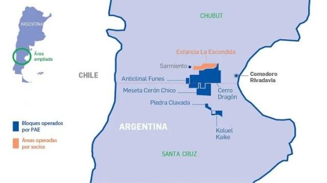 En al Cuenca San Jorge, entre 2001 y 2019, la petrolera PAE incrementó la producción de petróleo en un 43% y la de gas en un 154%.