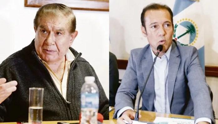 El líder del sindicato de petroleros Guillermo Pereyra y el gobernador de Neuquén, Omar Gutiérrez.