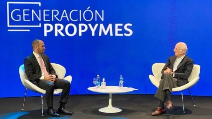 El ministro de Economía, Martín Guzmán, fue entrevistado por Paolo Rocca, del Grupo Techint.