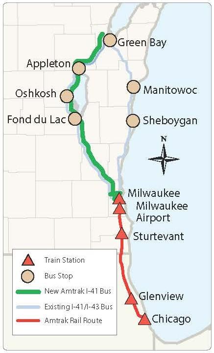 Amtrak Train Status Map : amtrak, train, status, Green, Bay-Milwaukee, Amtrak, Service, Media