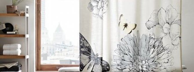 shower curtain and liner