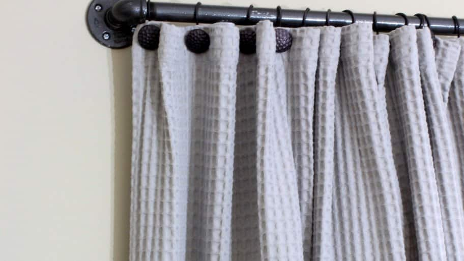diy industrial pipe curtain rod
