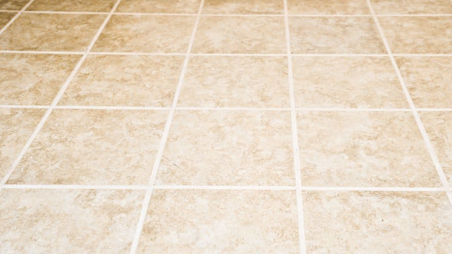 sealing grout on new tile