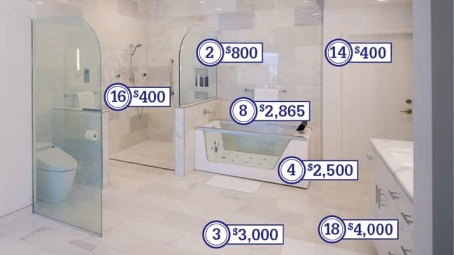 a master bathroom remodel cost
