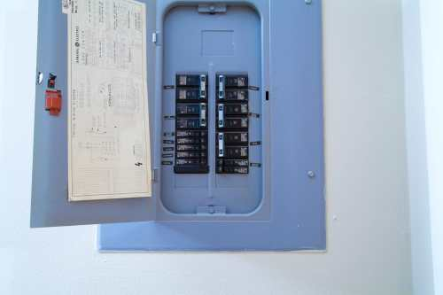 small resolution of power surge protection for your whole house open electrical circuit breaker panel