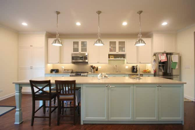 blue kitchen island shoes for chefs with matching lower cabinets angie s list