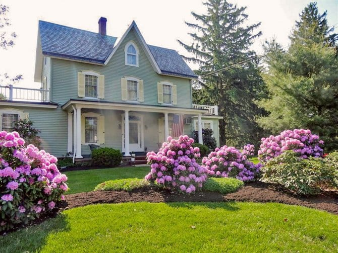victorian home landscaped