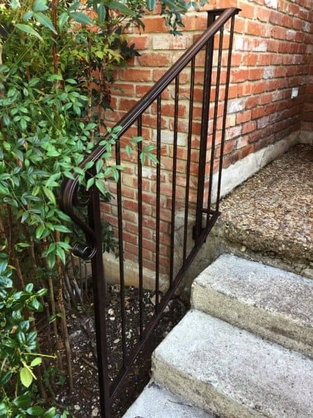 How To Paint Wrought Iron Railings Angie S List | Metal Railing For Steps Outside | Front Porch | Deck Stair | Aluminum | Deck Railing | Staircase