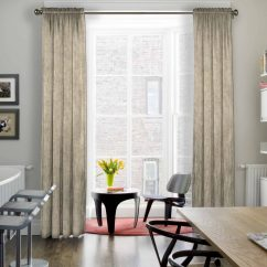 Modern Living Room Curtains Light Fixtures 15 Dining Ideas Angie S List With Off White In A Subtle Pattern Framing Tall