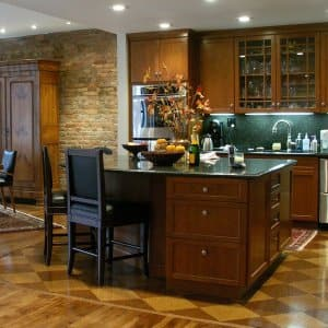 colored kitchen islands appliance cabinet 5 trendy colors for and bars angie s list dark wood island with bar stools