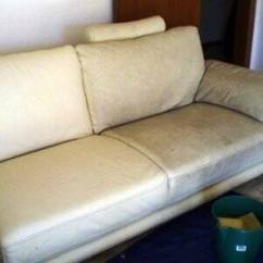 Clean Leather Sofa With Damp Cloth French Style Bed Upholstery Cleaning Angie S List What A Difference Some Makes This Is Halfway Photo Courtesy