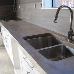 average cost of kitchen cabinets wine bottle themed decor the pros and cons concrete countertops | angie's list