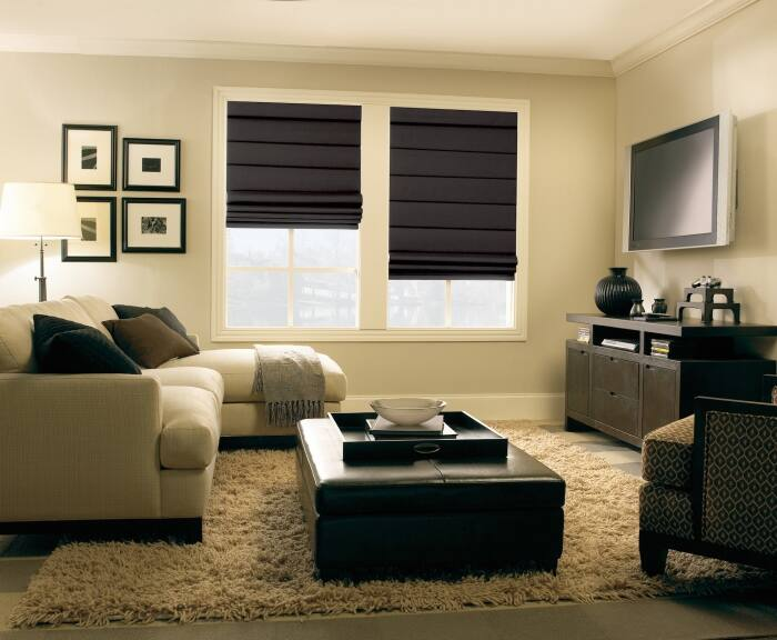 window treatment ideas for living room decorating small with corner fireplace 12 types of treatments angie s list roman shades