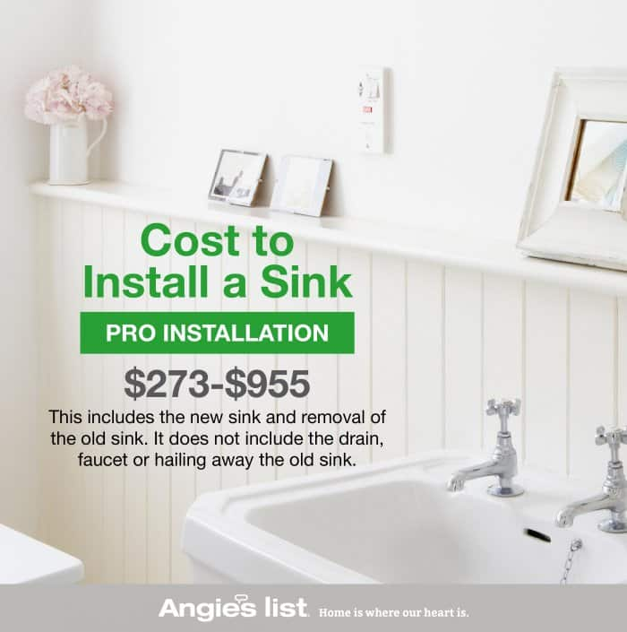 How To Install A Bathroom Sink Angie S List