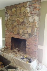 Concrete Industrial Fireplace Remodel Meets Cozy Chic ...