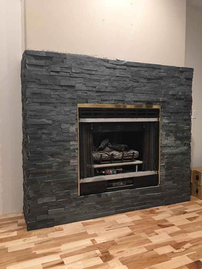 Stacked Stone Fireplace Makeover  Angies List