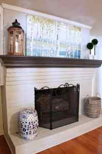 Dated Brick Fireplace gets Painted White   Angie's List
