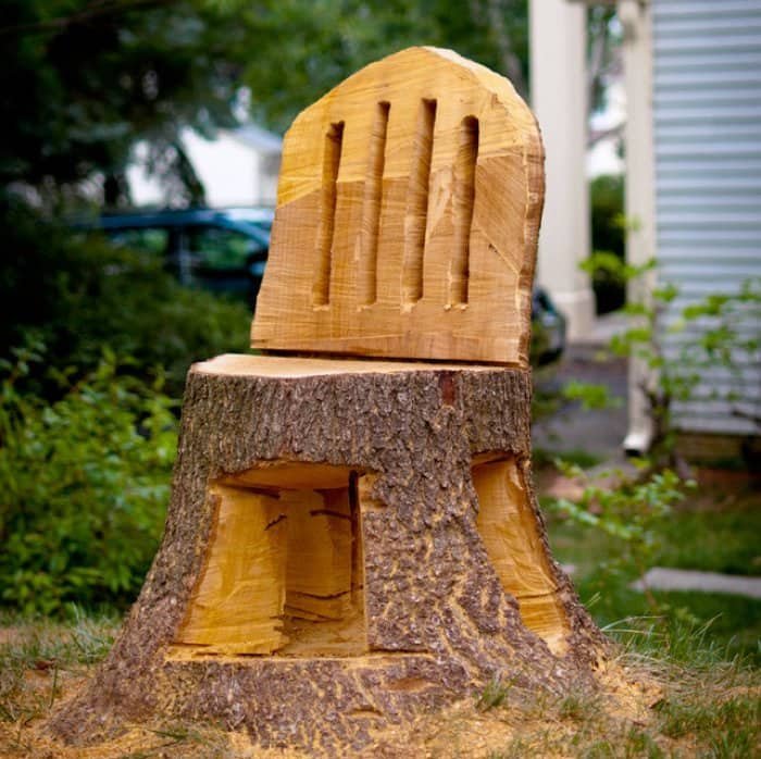 tree stump chairs children rocking ideas for your yard angie s list chair