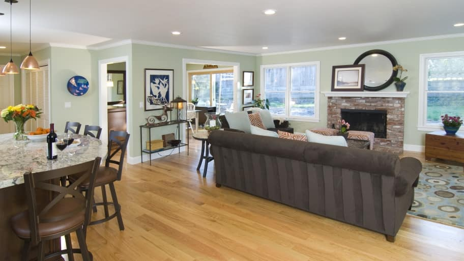 Kitchen Living Room Remodel Creates Gathering Space