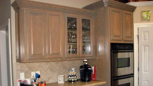 How Much Does It Cost To Stain Cabinets Staining Kitchen