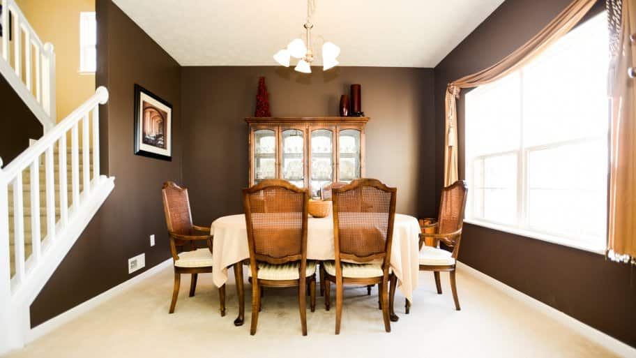 brown paint colors for living room decor ideas with black sofa fresh dining angie s list