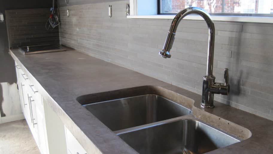 cement kitchen sink tiled island how much do concrete countertops cost angie s list countertop