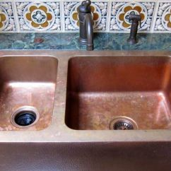 Copper Kitchen Sink How To Remodel A On Budget Pros And Cons Of Sinks Angie S List Farmhouse
