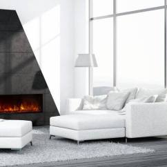 Contemporary Living Room With Electric Fireplace Country Lamps Is An Worth The Money Angie S List Whie Black Accent Wall