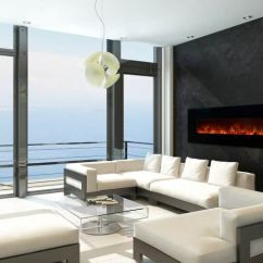 Contemporary Living Room With Electric Fireplace Rooms To Go Set Free Tv Is An Worth The Money Angie S List Ocean View