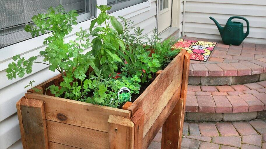 Small Space Herb Garden Ideas wood pallet herb garden Garden Ideas To Grow Food In Small Spaces Angies List