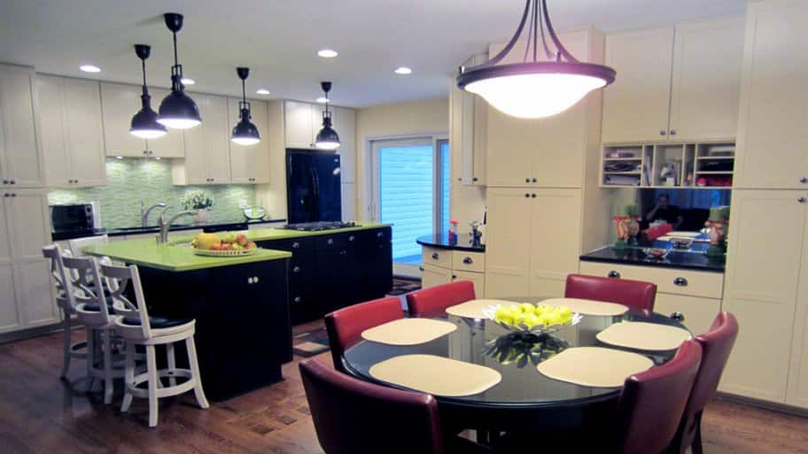 kitchen table light fixtures shelf ideas to update on any budget angie s list and sink