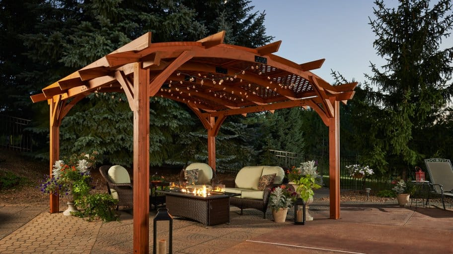 How To Build A Pergola On A Deck Youtube