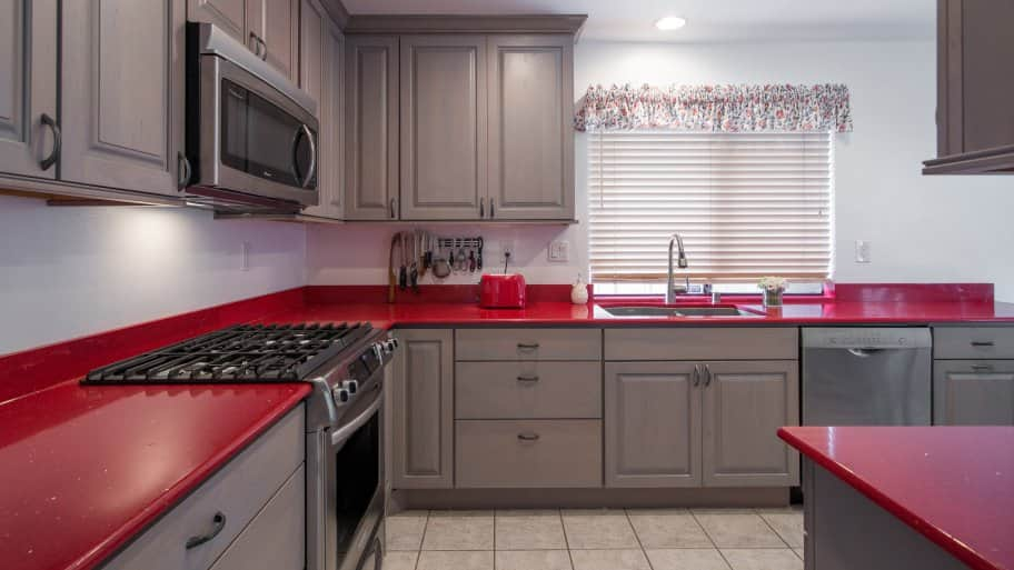 kitchen countertop cost islands ideas how much does it to install countertops angie s list red quartz