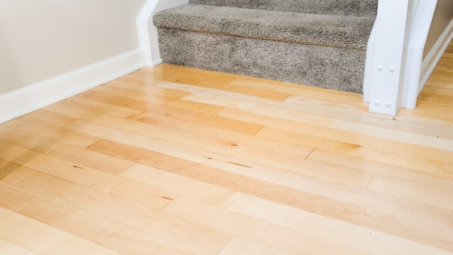 3 Tips To Keep Your Floor From Wearing Out Angie S List   Wooden Floor And Carpet On Stairs   Carpet Runner   Downstairs   Middle Stair   Popular   Wood Riser