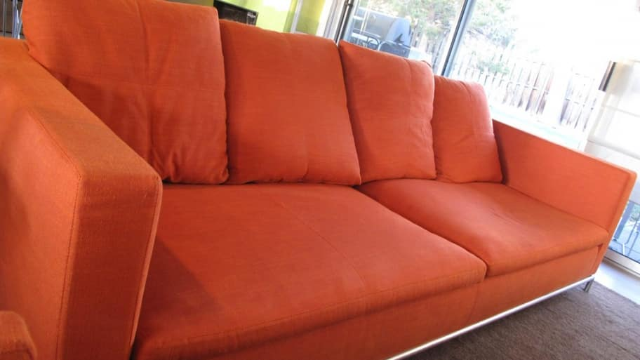 sofa cleaner pink bed for sale how much does furniture upholstery cleaning cost angie s list a professional left this bright colored looking like new photo courtesy of member ruth h denver colo