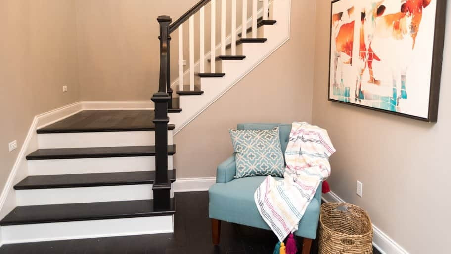How Much Does Building Stairs And Railings Cost Angie S List   Cost Of New Banister And Spindles   Chris Loves Julia   Stair Parts   Stair Treads   Paint   Iron Stair