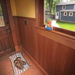 Chair Rail Pros And Cons Cheap Black Covers For Sale Trim Your Home Common Wood Molding Types Angie S List Stained Wainscoting In Mud Room Photo By Frank Espich