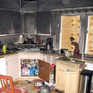 kitchen smoke detector sink with cabinet fire safety depends on the type of angie s list damage