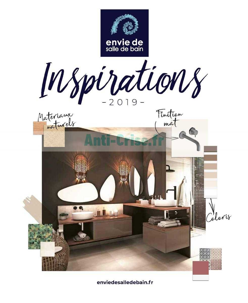 Envie De Salle De Bain Le Nouveau Catalogue Du 01 Janvier Au 31 Decembre 2019 Est Disponible Que Vous Reserve Le Dernier Catalogue
